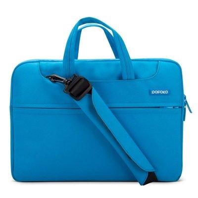 POFOKO 15.4 inch laptoptas met schouderband - Blauw