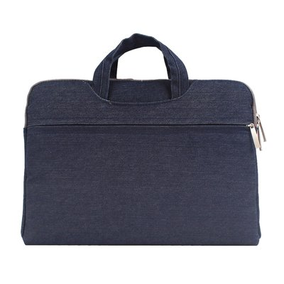 Denim laptoptas 15.4 inch - Donker blauw